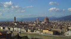 Florence skyline Tuscany Italy landscape panorama Stock Footage
