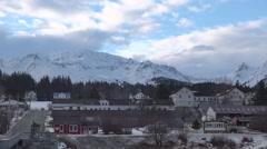 Sleepy Town Alaska Winter Time Lapse Stock Footage