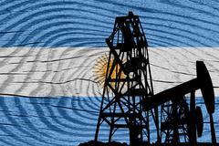Argentina flag Stock Illustration