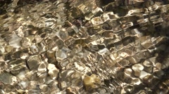 Pure mountain clear water creek - stock footage
