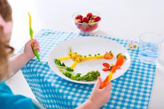 Healthy lunch for children - stock photo