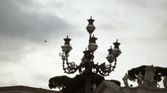 Street lights in Vatican, Rome - stock footage