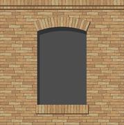 Brick arch opening Stock Illustration