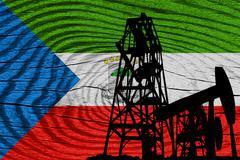 Equatorial guinea flag - stock illustration