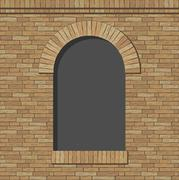Brick arch opening - stock illustration