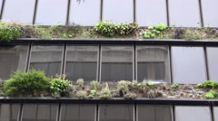 Ecologic architecture, urban building gardens - stock footage