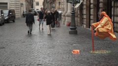 Gin in a street of Rome - stock footage