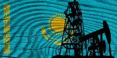 Kazakhstan flag - stock illustration