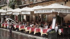 Italian restaurant Stock Footage