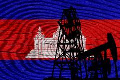Cambodia flag - stock illustration