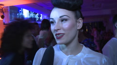 Eden Berlin Interview at Michalsky Fashion Show - stock footage