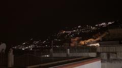 Amalfi at night - stock footage