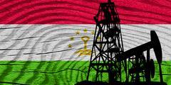 Tajikistan flag Stock Illustration