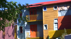 Houses in Caminito, La Boca - stock footage