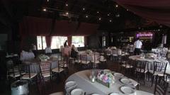 Wedding reception preparation timelapse 4k Stock Footage