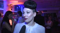 Eden Berlin Interview at Michalsky Fashion Show - stock footage