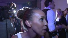 Interview at Fashion Week after party Stock Footage