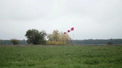Windsock in the airfield - stock footage