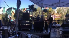 Las Vegas camera crew - stock footage