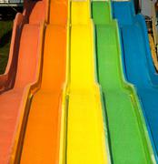 Aqua park slides - stock photo