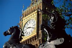 Big Ben and statue of Boadicea Kuvituskuvat