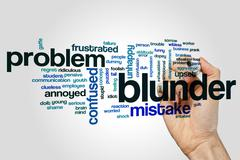 Blunder word cloud concept - stock photo