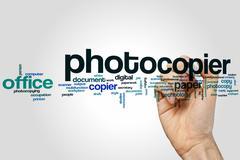 Photocopier word cloud Stock Photos