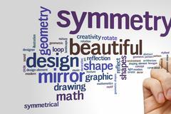 Beautiful symmetry word cloud Stock Photos