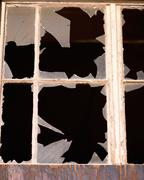 Broken window-panes Stock Photos