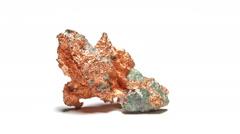 Native copper specimen loop Stock Footage