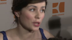 Interview of Nora Tschirner at the Fashion Week Stock Footage