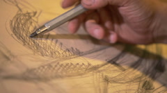 Pencil sketch drawing Stock Footage