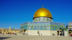 Dome of the Rock. - stock footage