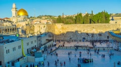 The Western Wall. Stock Footage