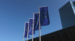 European flags Stock Footage