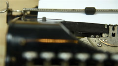 Typewriter track right  - stock footage