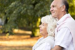 Love in old age - stock photo
