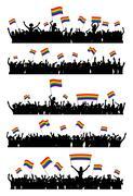 LGBT cheering crowd - stock illustration