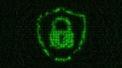 Internet Security - Digital Data Code Matrix - stock footage