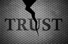 Broken Trust pattern - stock photo