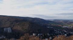 4k Bad Harzburg village high angle panning Germany Stock Footage