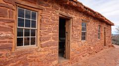 Sandstone Cabin at Pipe Spring National Monument Stock Photos