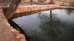 Collected Natural Spring Water at Pipe Spring National Monument Stock Photos