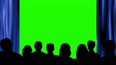 People looking at theater green screen - stock footage