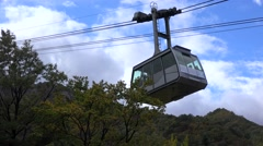 Sogongwon Cable Car in the Seoraksan National Park. Sokcho Stock Footage