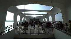 Arizona memorial inside - Pearl Harbor, Hawaii - stock footage