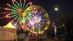 ferris wheel, theme park, time lapse - stock footage