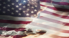 Animation of american waving flag - stock footage