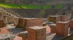 Colosseum ruins in the Triest, Italy. Ancient colosseum Stock Footage