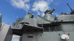 Uss Missouri battleship - Pearl harbor, slider shot - stock footage